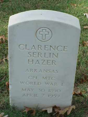 HAZER  (VETERAN WWI), CLARENCE SERLIN - Pulaski County, Arkansas | CLARENCE SERLIN HAZER  (VETERAN WWI) - Arkansas Gravestone Photos