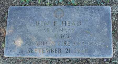 HEAD (VETERAN), BEN F - Pulaski County, Arkansas | BEN F HEAD (VETERAN) - Arkansas Gravestone Photos