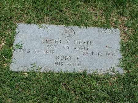 HEATH (VETERAN WWI), ELMER V - Pulaski County, Arkansas | ELMER V HEATH (VETERAN WWI) - Arkansas Gravestone Photos