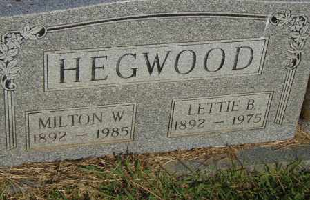 HEDGEWOOD, MILTON W - Pulaski County, Arkansas | MILTON W HEDGEWOOD - Arkansas Gravestone Photos