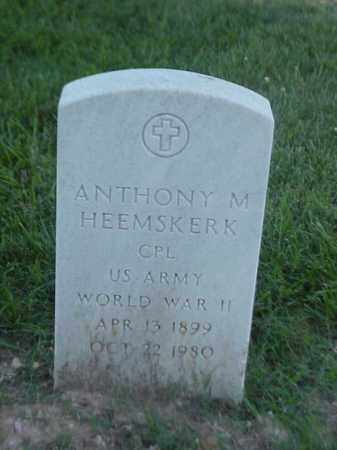 HEEMSKERK (VETERAN WWII), ANTHONY M - Pulaski County, Arkansas | ANTHONY M HEEMSKERK (VETERAN WWII) - Arkansas Gravestone Photos