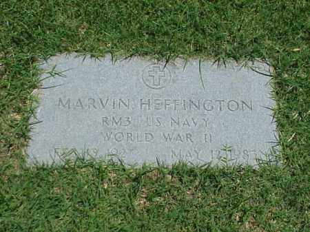 HEFFINGTON (VETERAN WWII), MARVIN - Pulaski County, Arkansas | MARVIN HEFFINGTON (VETERAN WWII) - Arkansas Gravestone Photos