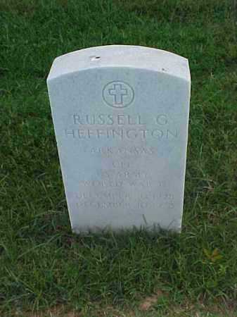 HEFFINGTON (VETERAN WWII), RUSSELL G - Pulaski County, Arkansas | RUSSELL G HEFFINGTON (VETERAN WWII) - Arkansas Gravestone Photos