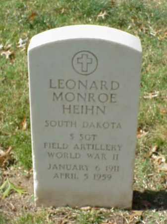 HEIHN  (VETERAN WWII), LEONARD MONROE - Pulaski County, Arkansas | LEONARD MONROE HEIHN  (VETERAN WWII) - Arkansas Gravestone Photos