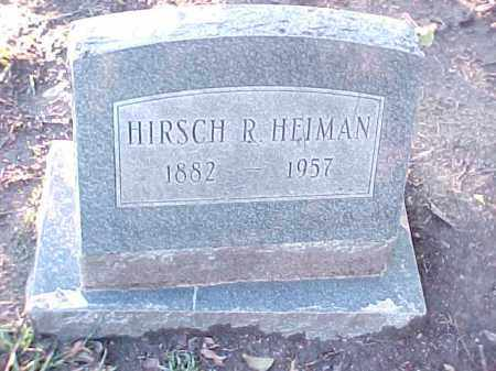 HEIMAN, HIRSCH R - Pulaski County, Arkansas | HIRSCH R HEIMAN - Arkansas Gravestone Photos