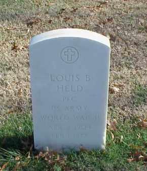 HELD  (VETERAN WWII), LOUIS B - Pulaski County, Arkansas | LOUIS B HELD  (VETERAN WWII) - Arkansas Gravestone Photos