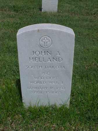 HELLAND (VETERAN WWI), JOHN A - Pulaski County, Arkansas | JOHN A HELLAND (VETERAN WWI) - Arkansas Gravestone Photos
