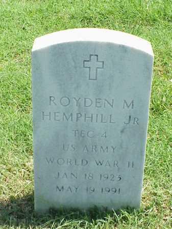 HEMPHILL, JR (VETERAN WWII), ROYDEN M - Pulaski County, Arkansas | ROYDEN M HEMPHILL, JR (VETERAN WWII) - Arkansas Gravestone Photos