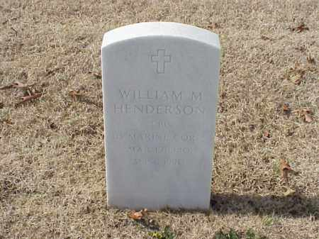HENDERSON  (VETERAN), WILLIAM M - Pulaski County, Arkansas | WILLIAM M HENDERSON  (VETERAN) - Arkansas Gravestone Photos