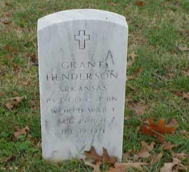 HENDERSON  (VETERAN WWI), GRANT - Pulaski County, Arkansas | GRANT HENDERSON  (VETERAN WWI) - Arkansas Gravestone Photos