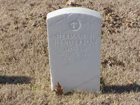 HENDERSON  (VETERAN WWI), HERMAN H - Pulaski County, Arkansas | HERMAN H HENDERSON  (VETERAN WWI) - Arkansas Gravestone Photos