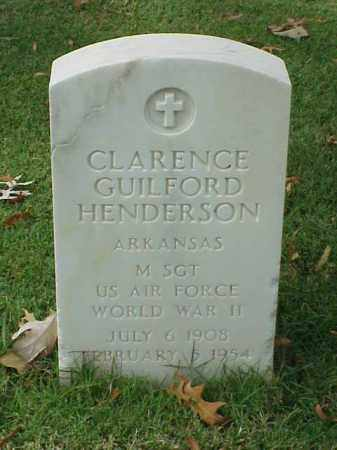 HENDERSON  (VETERAN WWII), CLARENCE GUILFORD - Pulaski County, Arkansas | CLARENCE GUILFORD HENDERSON  (VETERAN WWII) - Arkansas Gravestone Photos