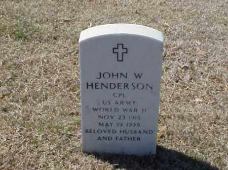 HENDERSON  (VETERAN WWII), JOHN W - Pulaski County, Arkansas | JOHN W HENDERSON  (VETERAN WWII) - Arkansas Gravestone Photos