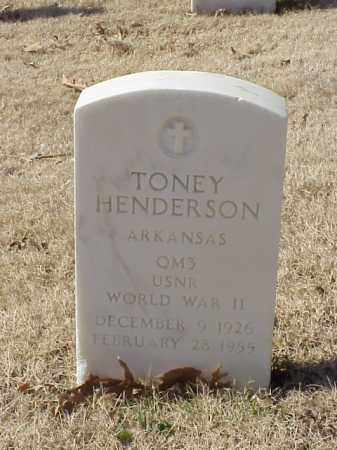 HENDERSON  (VETERAN WWII), TONEY - Pulaski County, Arkansas | TONEY HENDERSON  (VETERAN WWII) - Arkansas Gravestone Photos
