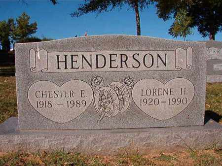 HENDERSON, CHESTER E - Pulaski County, Arkansas | CHESTER E HENDERSON - Arkansas Gravestone Photos