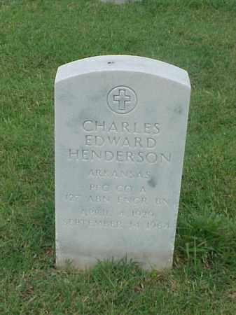 HENDERSON (VETERAN ), CHARLES EDWARD - Pulaski County, Arkansas | CHARLES EDWARD HENDERSON (VETERAN ) - Arkansas Gravestone Photos
