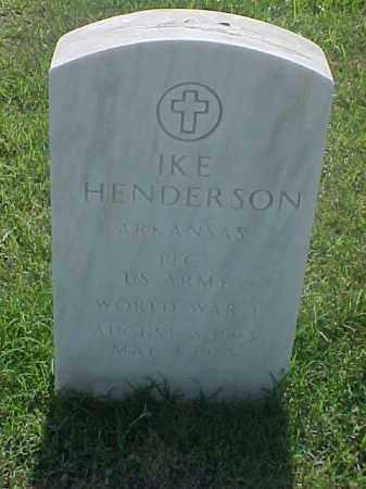HENDERSON (VETERAN WWI), IKE - Pulaski County, Arkansas | IKE HENDERSON (VETERAN WWI) - Arkansas Gravestone Photos
