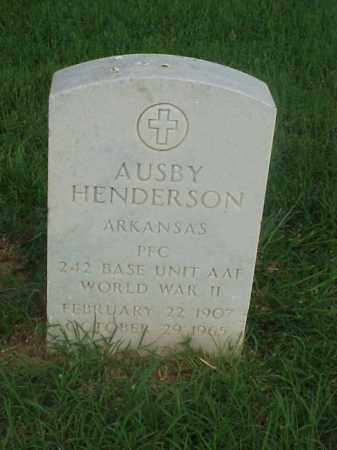 HENDERSON (VETERAN WWII), AUSBY - Pulaski County, Arkansas | AUSBY HENDERSON (VETERAN WWII) - Arkansas Gravestone Photos