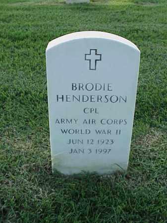 HENDERSON (VETERAN WWII), BRODIE - Pulaski County, Arkansas | BRODIE HENDERSON (VETERAN WWII) - Arkansas Gravestone Photos