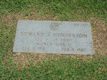 HENDERSON (VETERAN WWII), EDWARD A - Pulaski County, Arkansas | EDWARD A HENDERSON (VETERAN WWII) - Arkansas Gravestone Photos