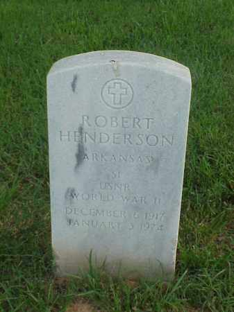 HENDERSON (VETERAN WWII), ROBERT - Pulaski County, Arkansas | ROBERT HENDERSON (VETERAN WWII) - Arkansas Gravestone Photos