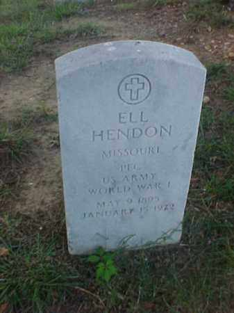 HENDON (VETERAN WWI), ELL - Pulaski County, Arkansas | ELL HENDON (VETERAN WWI) - Arkansas Gravestone Photos