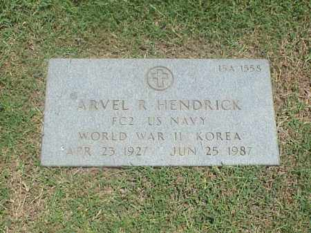 HENDRICK (VETERAN 2 WARS), ARVEL R - Pulaski County, Arkansas | ARVEL R HENDRICK (VETERAN 2 WARS) - Arkansas Gravestone Photos