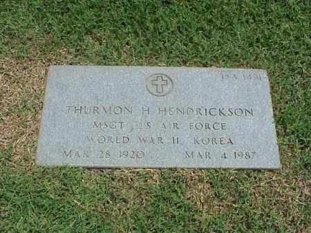 HENDRICKSON (VETERAN 2 WARS), THURMON H - Pulaski County, Arkansas | THURMON H HENDRICKSON (VETERAN 2 WARS) - Arkansas Gravestone Photos