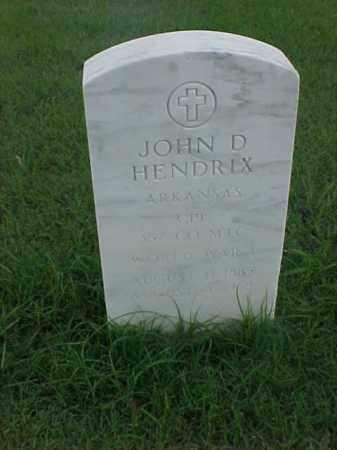 HENDRIX (VETERAN WWI), JOHN D - Pulaski County, Arkansas | JOHN D HENDRIX (VETERAN WWI) - Arkansas Gravestone Photos