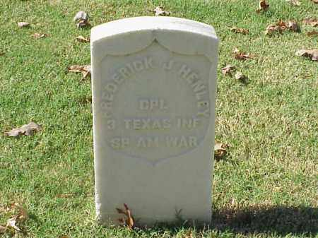 HENLEY  (VETERAN SAW), FREDERICK  J - Pulaski County, Arkansas | FREDERICK  J HENLEY  (VETERAN SAW) - Arkansas Gravestone Photos