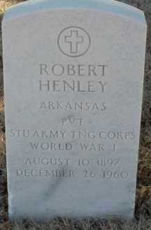 HENLEY  (VETERAN WWI), ROBERT - Pulaski County, Arkansas | ROBERT HENLEY  (VETERAN WWI) - Arkansas Gravestone Photos