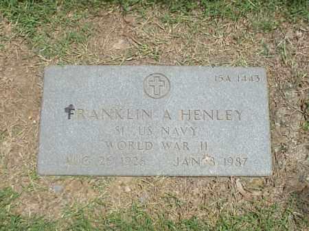 HENLEY (VETERAN WWII), FRANKLIN AUGUSTUS - Pulaski County, Arkansas   FRANKLIN AUGUSTUS HENLEY (VETERAN WWII) - Arkansas Gravestone Photos