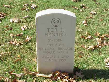 HENRIKS  (VETERAN WWI), TOR H - Pulaski County, Arkansas | TOR H HENRIKS  (VETERAN WWI) - Arkansas Gravestone Photos