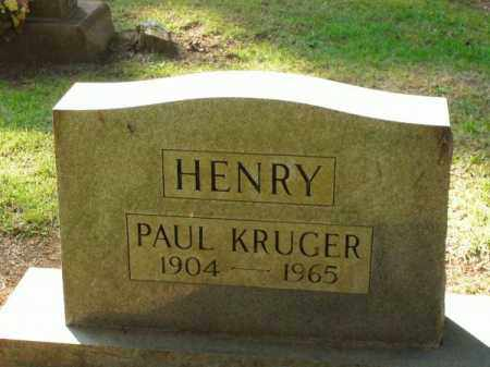 HENRY, PAUL KRUGER - Pulaski County, Arkansas | PAUL KRUGER HENRY - Arkansas Gravestone Photos