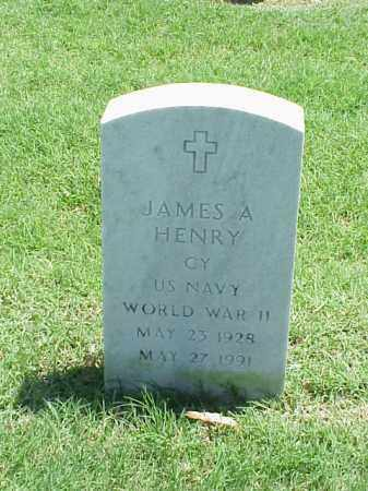 HENRY (VETERAN WWII), JAMES A - Pulaski County, Arkansas | JAMES A HENRY (VETERAN WWII) - Arkansas Gravestone Photos
