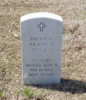 HENRY (VETERAN WWII), PATRICK FRANCIS - Pulaski County, Arkansas | PATRICK FRANCIS HENRY (VETERAN WWII) - Arkansas Gravestone Photos