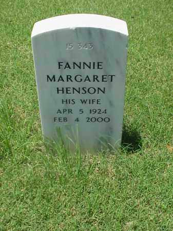 HENSON, FANNIE MARGARET - Pulaski County, Arkansas | FANNIE MARGARET HENSON - Arkansas Gravestone Photos