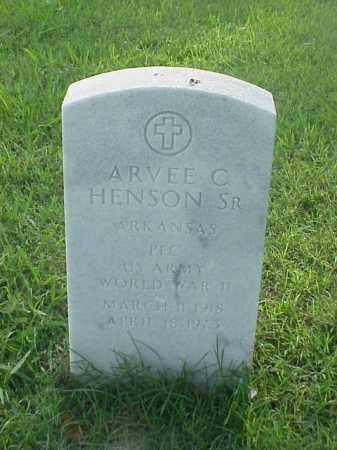 HENSON, SR (VETERAN WWII), ARVEE C - Pulaski County, Arkansas | ARVEE C HENSON, SR (VETERAN WWII) - Arkansas Gravestone Photos