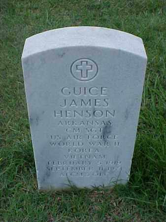 HENSON (VETERAN 3 WARS), GUICE JAMES - Pulaski County, Arkansas | GUICE JAMES HENSON (VETERAN 3 WARS) - Arkansas Gravestone Photos