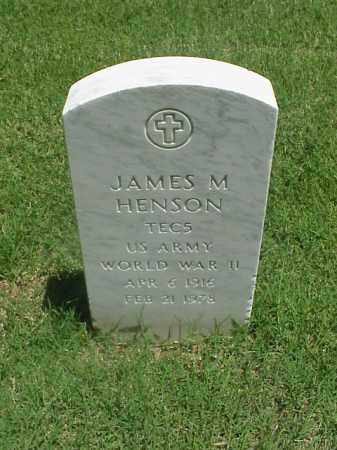 HENSON (VETERAN WWII), JAMES M - Pulaski County, Arkansas | JAMES M HENSON (VETERAN WWII) - Arkansas Gravestone Photos