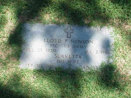 HENSON (VETERAN WWII), LLOYD P - Pulaski County, Arkansas | LLOYD P HENSON (VETERAN WWII) - Arkansas Gravestone Photos