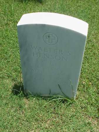 HENSON (VETERAN WWII), WALTER S - Pulaski County, Arkansas | WALTER S HENSON (VETERAN WWII) - Arkansas Gravestone Photos