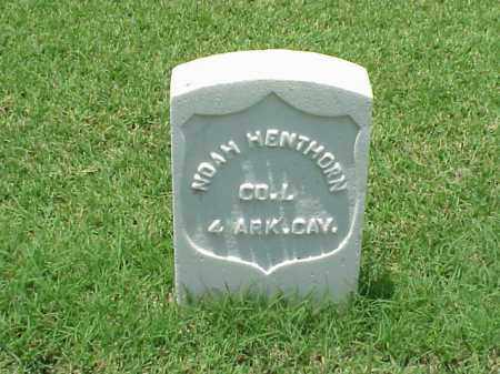 HENTHORN (VETERAN UNION), NOAH - Pulaski County, Arkansas | NOAH HENTHORN (VETERAN UNION) - Arkansas Gravestone Photos