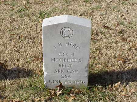 HERD  (VETERAN CSA), J B - Pulaski County, Arkansas | J B HERD  (VETERAN CSA) - Arkansas Gravestone Photos