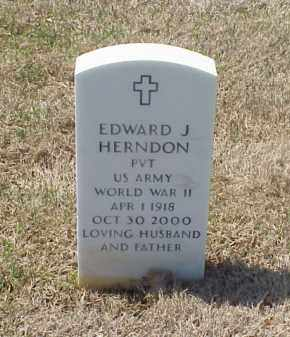 HERNDON (VETERAN WWII), EDWARD J - Pulaski County, Arkansas | EDWARD J HERNDON (VETERAN WWII) - Arkansas Gravestone Photos