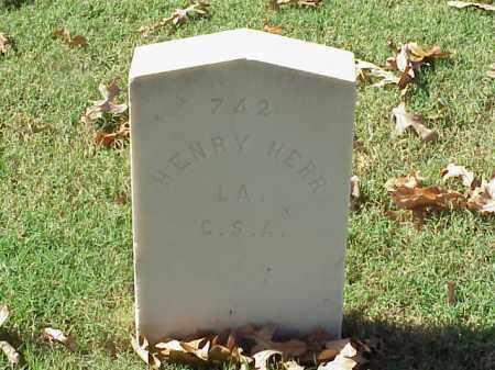 HERR  (VETERAN CSA), HENRY - Pulaski County, Arkansas | HENRY HERR  (VETERAN CSA) - Arkansas Gravestone Photos