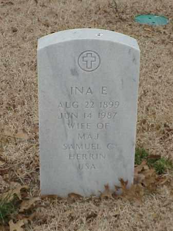 HERRIN, INA E - Pulaski County, Arkansas | INA E HERRIN - Arkansas Gravestone Photos