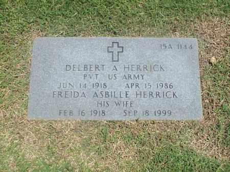 HERRICK (VETERAN WWII), DELBERT A - Pulaski County, Arkansas | DELBERT A HERRICK (VETERAN WWII) - Arkansas Gravestone Photos