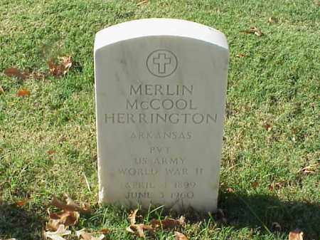 HERRINGTON  (VETERAN WWII), MERLIN MCCOOL - Pulaski County, Arkansas | MERLIN MCCOOL HERRINGTON  (VETERAN WWII) - Arkansas Gravestone Photos