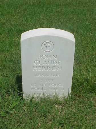 HERRON (VETERAN WWI), JOHN CLAUDE - Pulaski County, Arkansas | JOHN CLAUDE HERRON (VETERAN WWI) - Arkansas Gravestone Photos